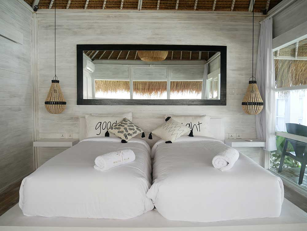 cocotastic bungalow twin bedroom in balangan