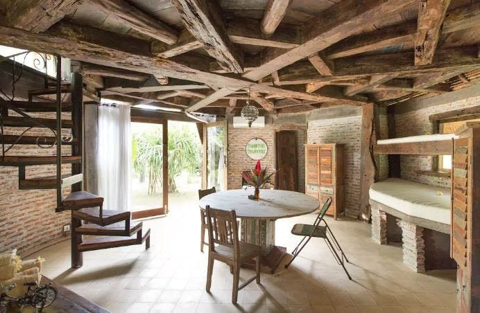fairytale cabin living and kitchen surf house bali the alchemist