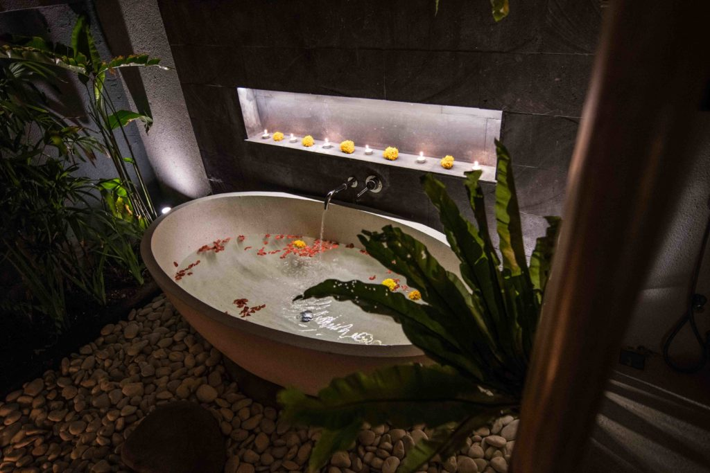 private villa bingin bali surf house outdoor bath