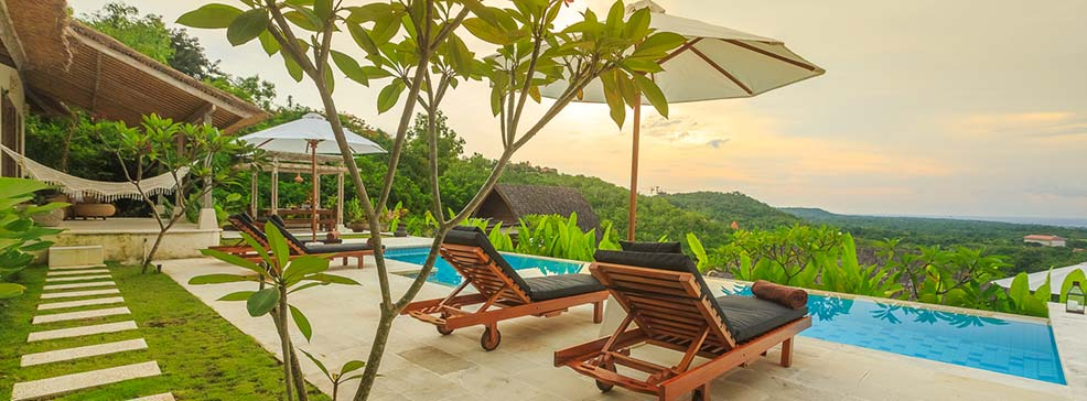 sun house bali luxury suite swimming pool with luxury view